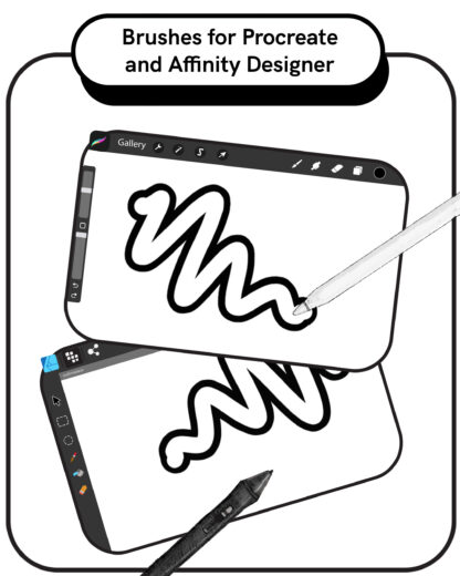 Outline Brushes for Procreate and Affinity Designer