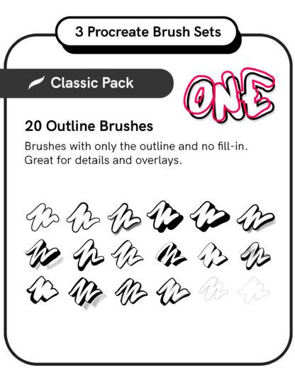 Procreate Brush Set: Classic Pack