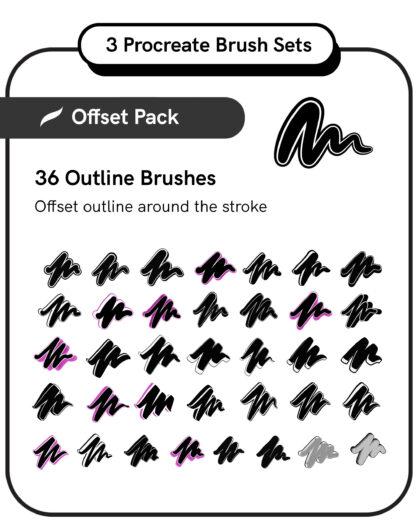 Procreate Brush Set: Offset Pack