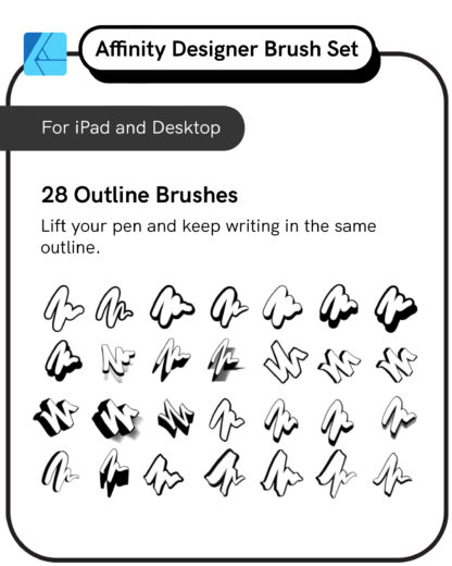 Procreate Brush Set: Offset PackProcreate Brush Set: Affinity Designer Outline Brushes