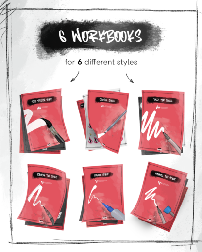 6 Worksheets on 6 different styles
