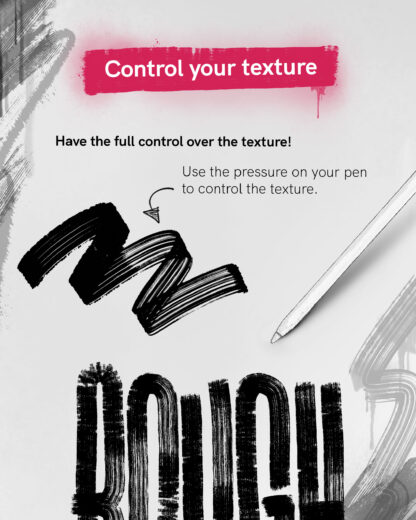 Control your texture! Using the Rough Pack 2 you can have the full controll on how much texture you want to add to your strokes