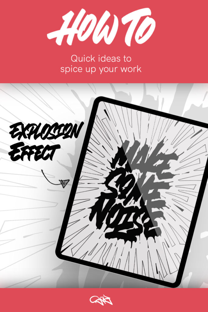 PIN -Quick Ideas on how to spice up your lettering - explosion effect