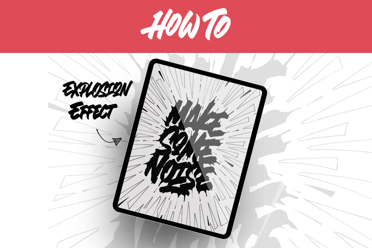 Quick Ideas on how to spice up your lettering - explosion effect