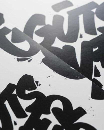 Digital Art print - Guts over fear - close up