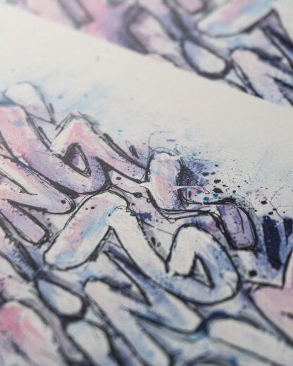 """Closeup - Digital Art print """"KEEP PUSHING THINGS FORWARD"""""""