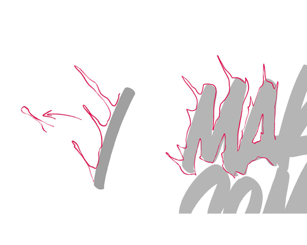 Step 2 - How to spice up your lettering