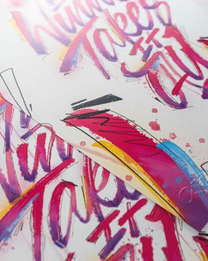 Digital Art print - The winner takes it all - close up