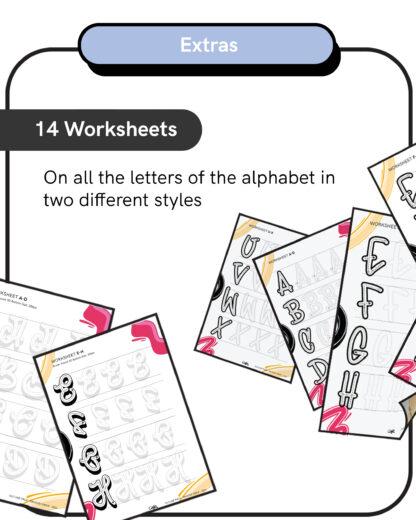 Outline Pack - 14 Worksheets Photoshop Brushes
