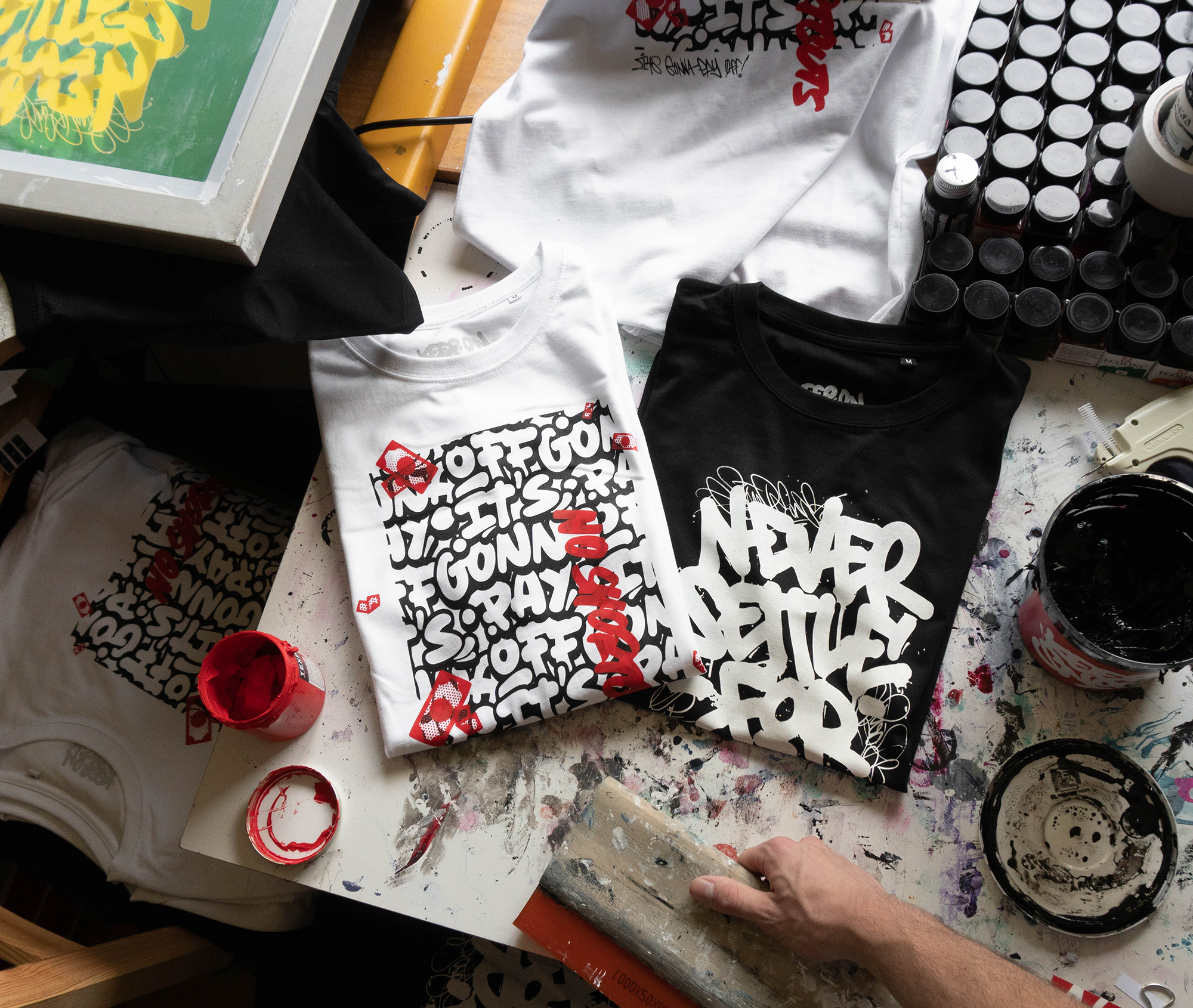 Handprinted, Limited Edtion T-Shirts 2021